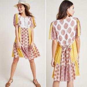 Anthropologie Maeve Melody Patchwork Dress Sz 12